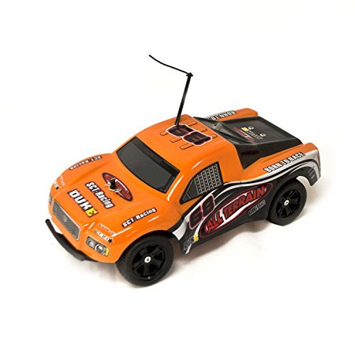 Battery Powered Off-Road RC Toy Truck, Orange 1/18 Scale