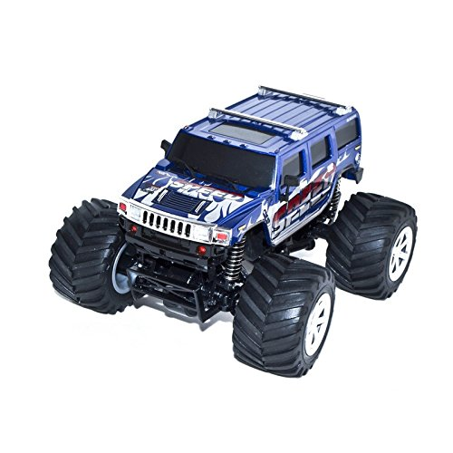 4WD 2.4 Ghz Electric Power High Speed Mini RC Hummer, Blue 1/24 Scale