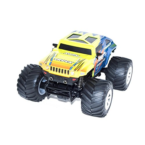 4WD 2.4 Ghz Electric Power High Speed Mini RC Hummer, Lemon 1/24 Scale