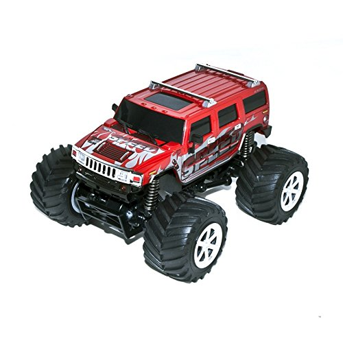 4WD 2.4 Ghz Electric Power High Speed Mini RC Hummer, Red 1/24 Scale