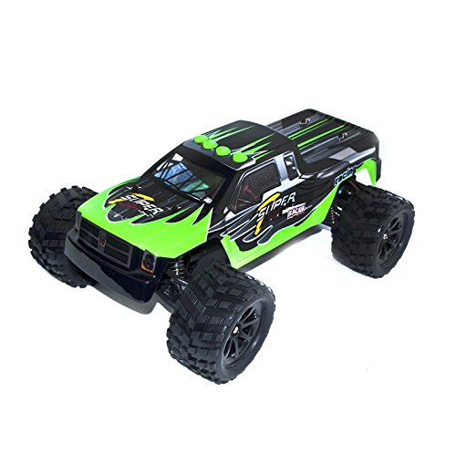 Electric Powered Brushless Motor High Speed Off-Road Monster Truck, Green