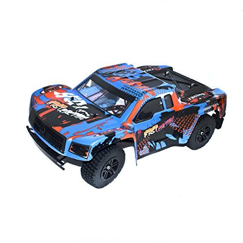 Electric Powered Brushless Motor High Speed Short Course Truck, Blue 1/12 Scale