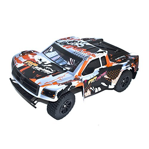 Electric Powered Brushless Motor High Speed Short Course Truck, Silver