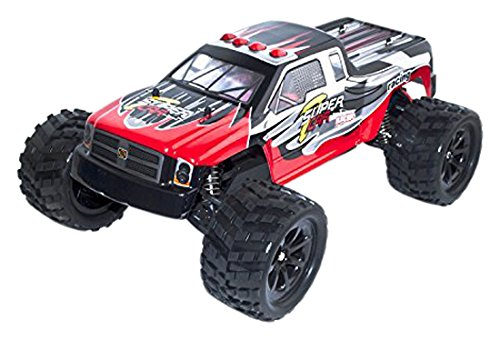 4WD 2.4 Ghz Off Road Electric Power High Speed Monster Truck, Red 1/12 Scale