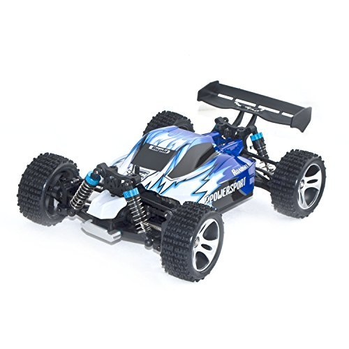 4WD Electric Power High Speed Off-Road Buggy, Blue 1/18 Scale