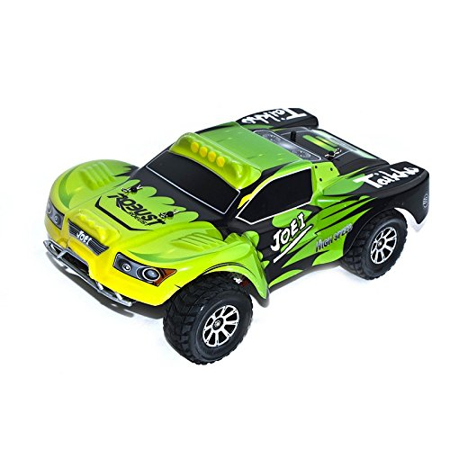 4WD Electric Power High Speed Short Course Truck, Green 1/18 Scale