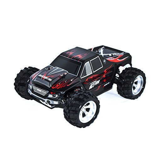 4WD Off Road Electric Power High Speed Monster Truck, Black 1/18 Scale