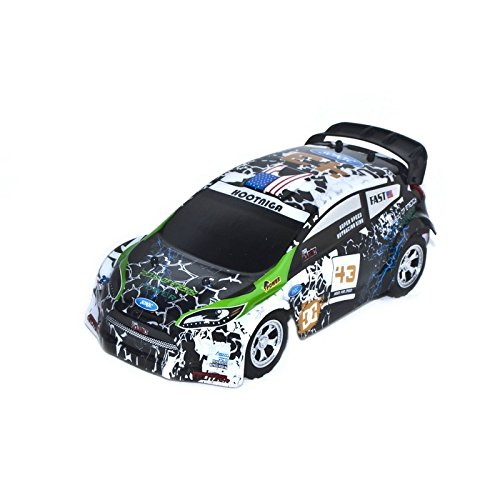 2WD 2.4Ghz Electric Power Sports Rally Car, Black 1/24 Scale