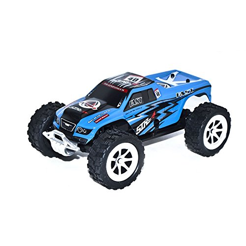 2WD 2.4Ghz Electric Power Truck With Proportional Steering, Blue 1/24 Scale