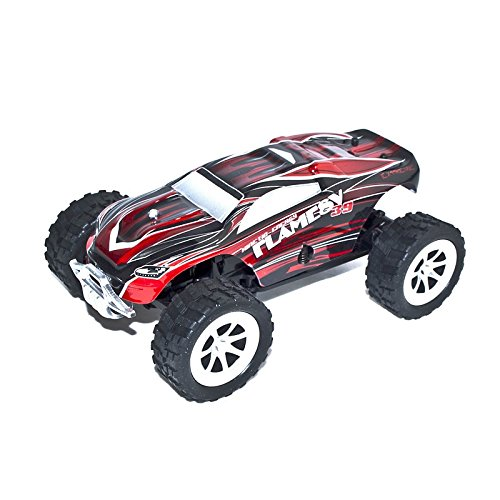 2WD 2.4Ghz Electric Power Truck With Proportional Steering, Red 1/24 Scale