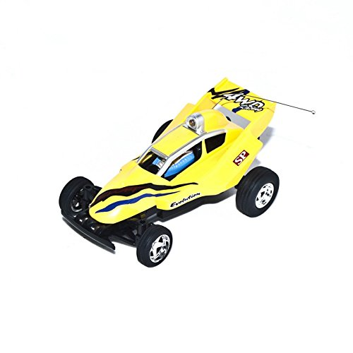 49Mhz Electric Power Toy Mini RC Buggy, Yellow 1/52 Scale