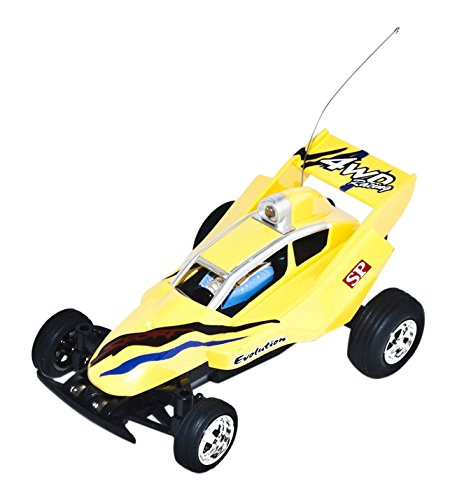 49Mhz Electric Power Awesome Mini RC Buggy, Yellow 1/52 Scale