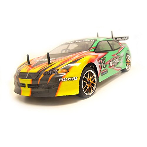 4WD High Speed Nitro Powered On Road Racing Car Vertex 18 CXP, Green 1/10 Scale