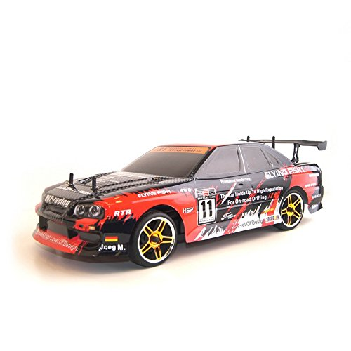 4WD Brushless Electric Powered On-Road RC PRO Touring Car, Red 1/10 Scale