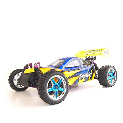 4WD 2.4 Gh Nitro Powered Vertex 18 CXP Off Road Buggy, Blue 1/10 Scale