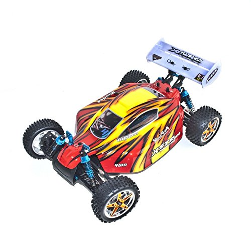 4WD Brushless Electric Powered RC PRO Off Road Buggy, Red 1/10 Scale