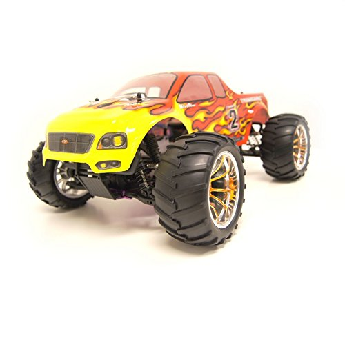 4WD Nitro Powered High Speed Off Road Monster Truck, Red 1/10 Scale
