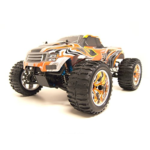4WD Brushless Electric Powered Off-Road RC PRO Monster Truck, Orange 1/10 Scale