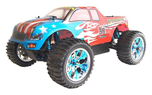 4WD Brushless Electric Powered Off-Road RC PRO Monster Truck, Red 1/10 Scale
