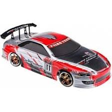 4WD Electric Powered High Speed On Road Drifting Car, Red 1/10 Scale
