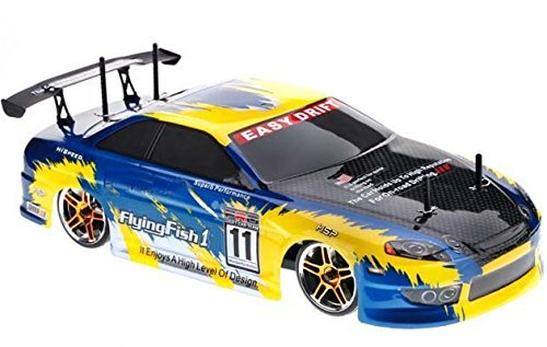 4WD Electric Powered High Speed On Road Drifting Car, Yellow 1/10 Scale