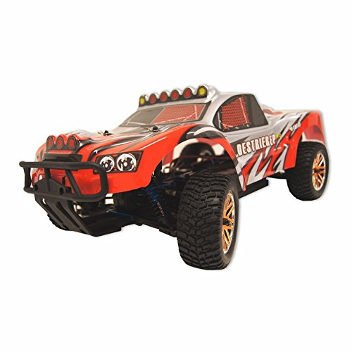 4WD Brushless Electric Powered Off-Road RC PRO Rally Monster, Red 1/10 Scale