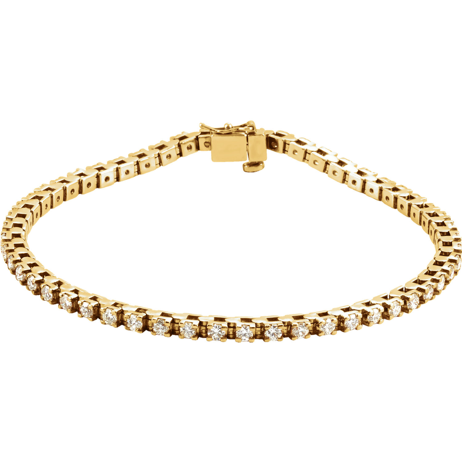 14K Yellow 2 1/8 CTW Diamond Line Bracelet