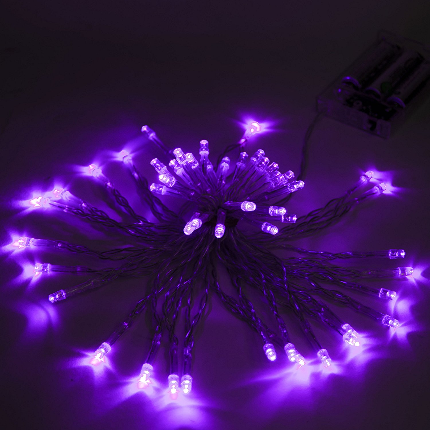 30 LED 10 Feet Battery Operated String Lights Christmas Lights Purple Color