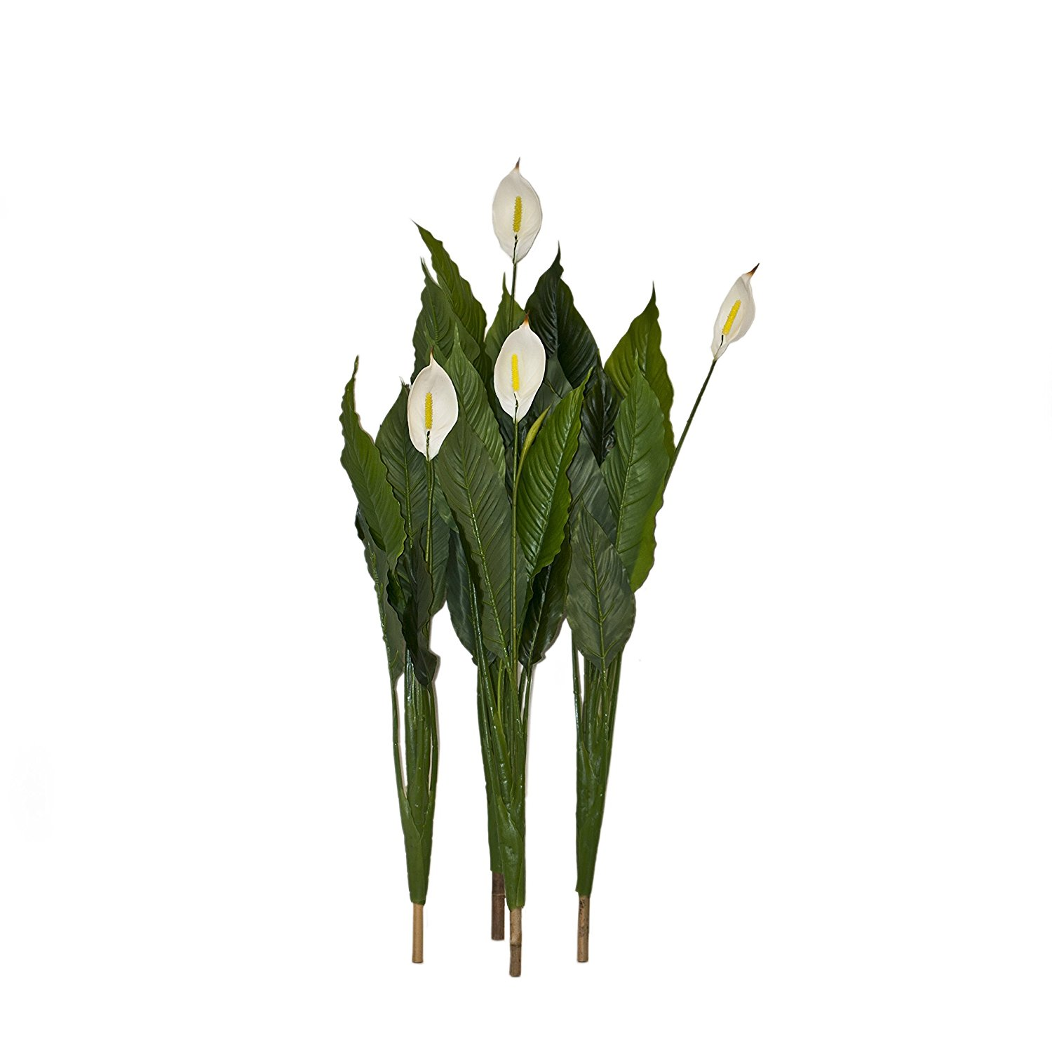 42 Inch 4 Artificial White Plant Calla Flowers for Home Decor