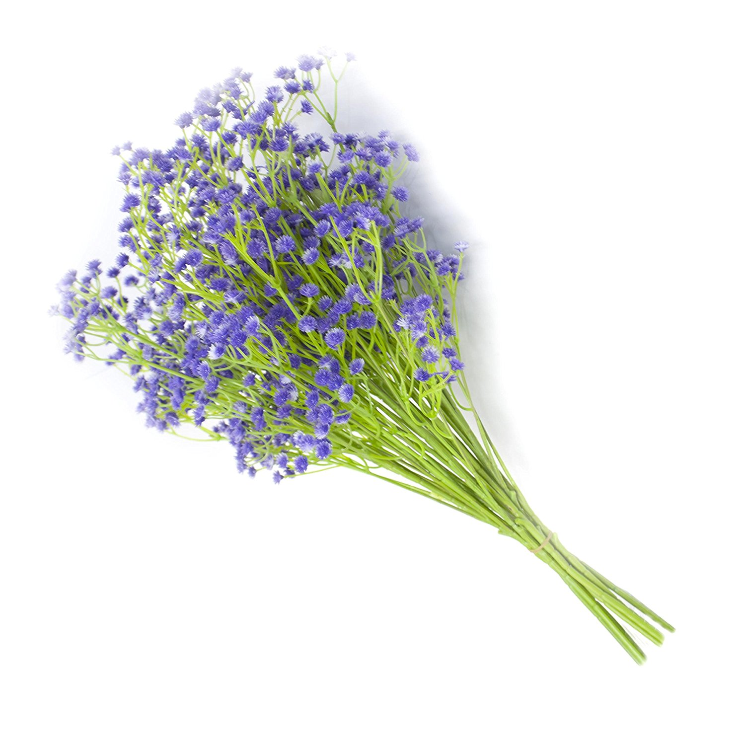 Artificial Purple Baby Breath Gypsophila Flower for Home Decor, Lot of 10