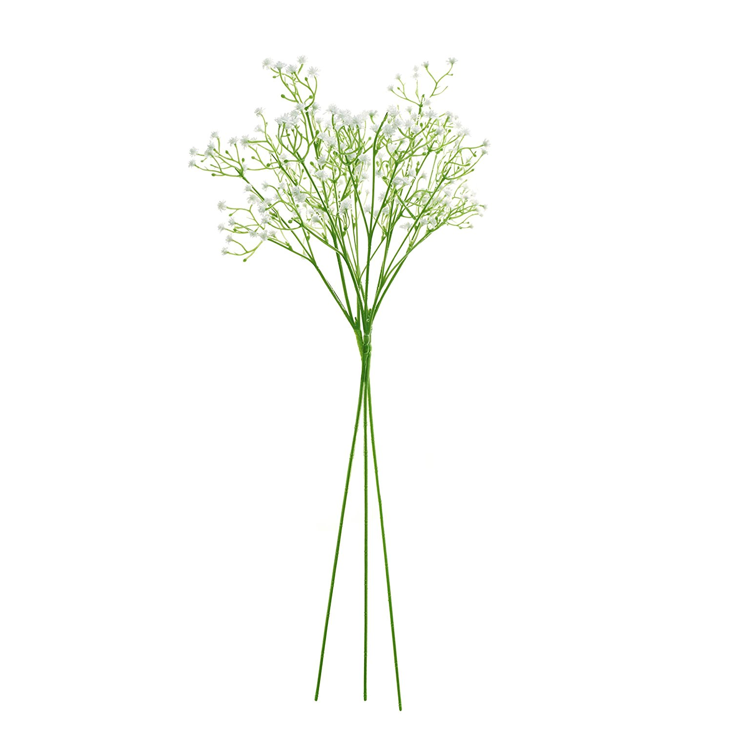 Artificial White Baby Breath Gypsophila Flower, Lot of 3