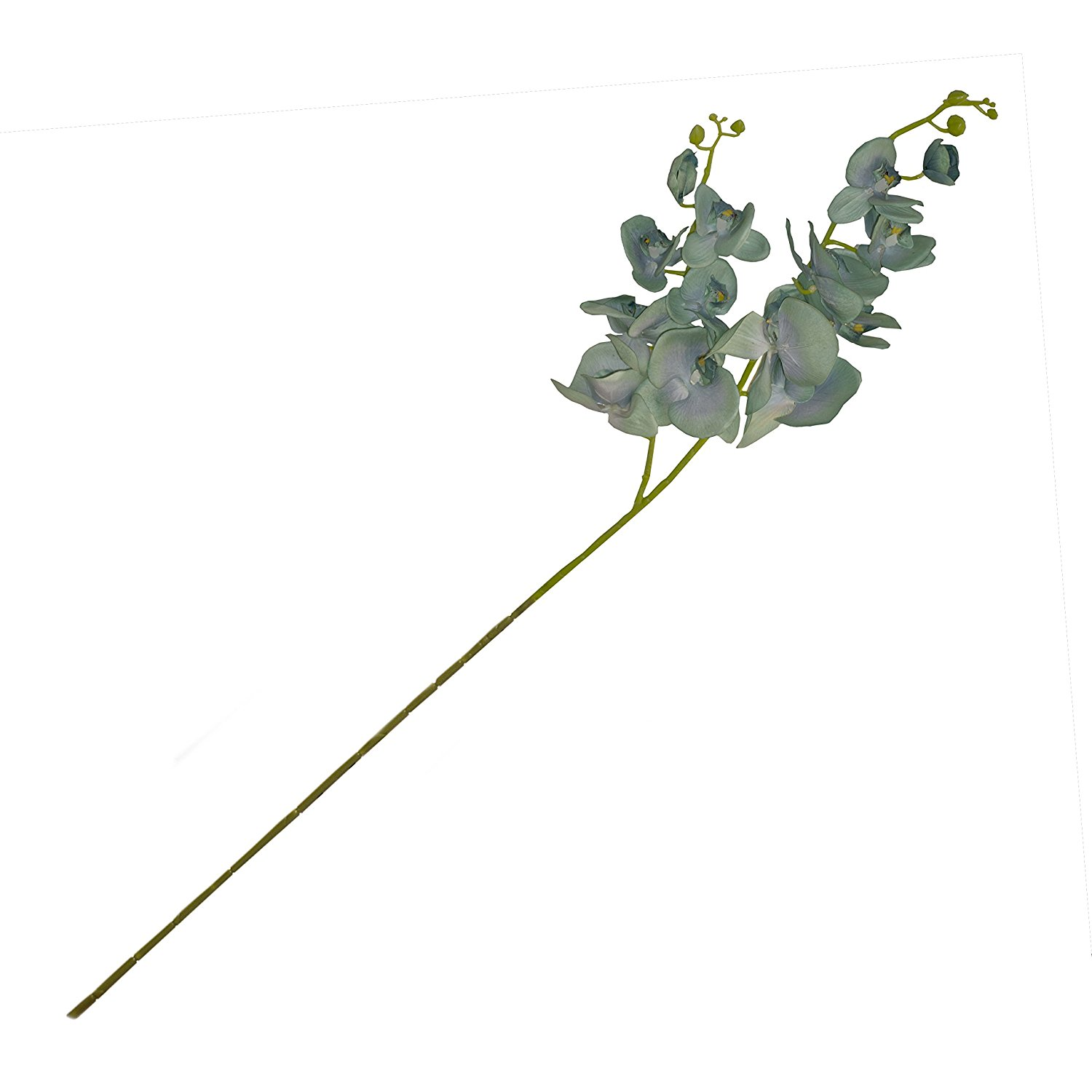 Artificial 42 Inch Long 2 Branch Orchid Flower Light Green Color