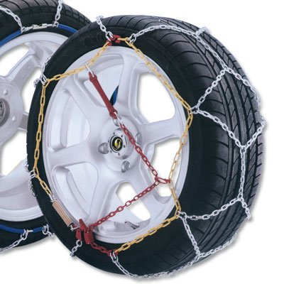 Size 100 Pair of Passenger Car Snow Chains-12mm
