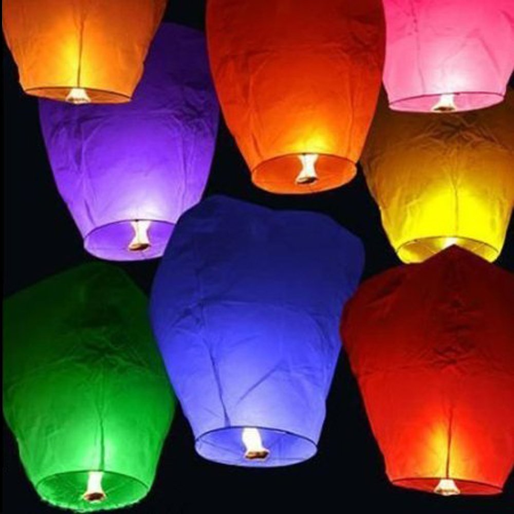 Sky Lanterns Chinese Flying Wish Lantern Lamp for Weddings Birthday All