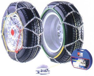 Size 90 Pair of Passenger Car Snow Chains-12mm