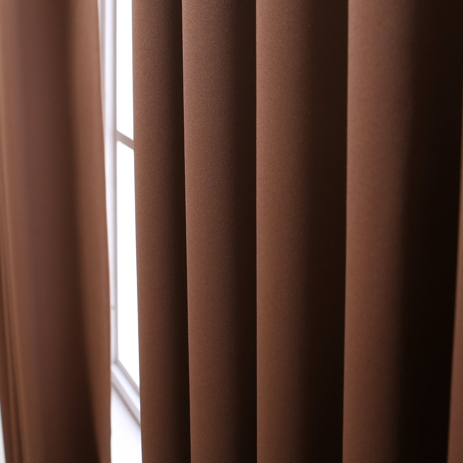 Burgundy Color 52 x 84 Solid Thermal Insulated Blackout Curtain