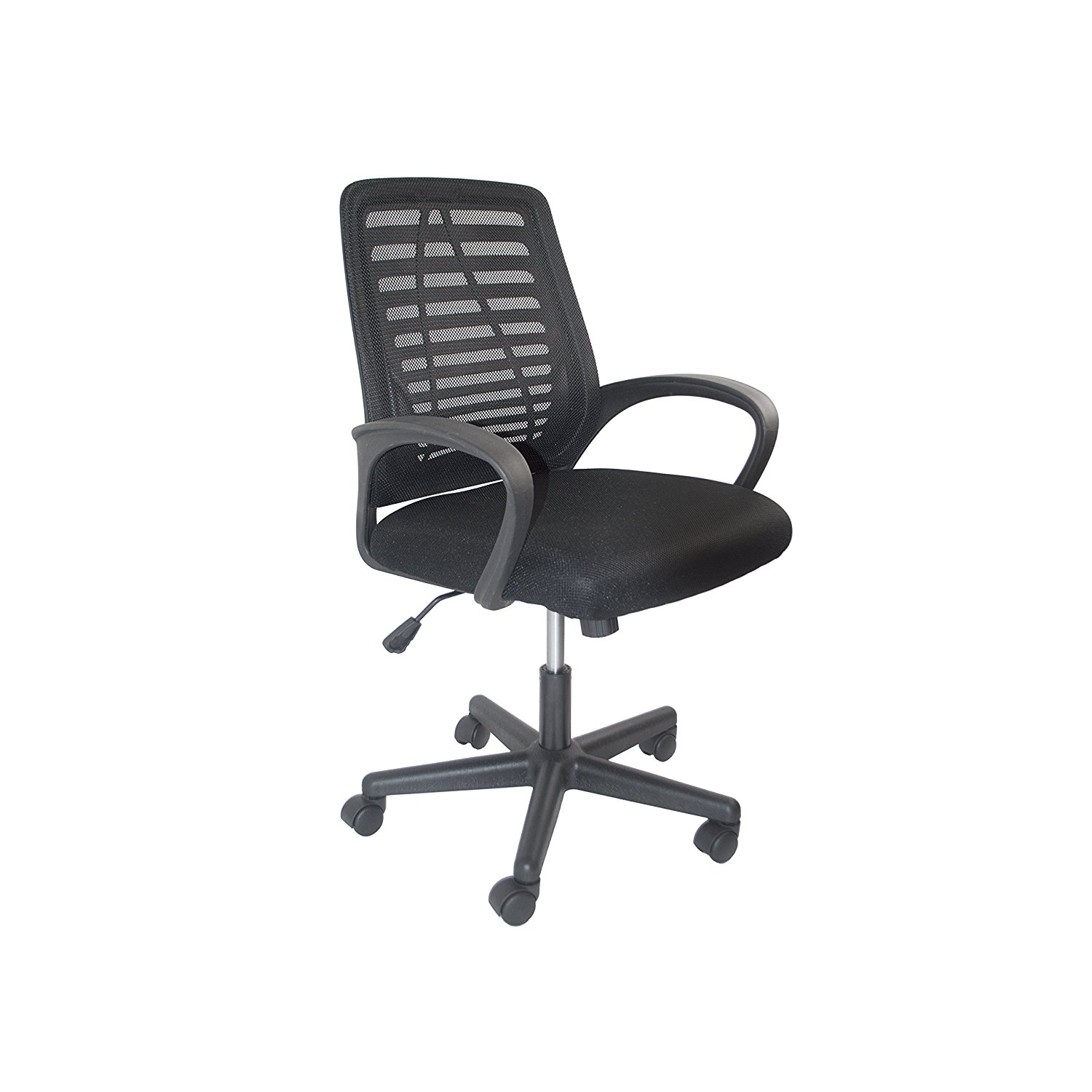 ALCM815BL Black Ergonomic Office Chair, High Back Mesh Chair with Armrest