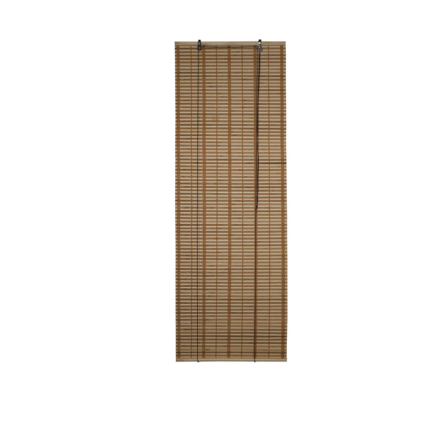Light Brown Bamboo Midollino Wooden Roll Up Blinds Light Filtering Shades