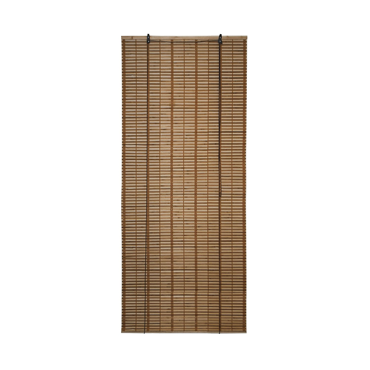 Light Brown Bamboo Midollino Wooden Roll Up Blinds Light Filtering Shades 32X72