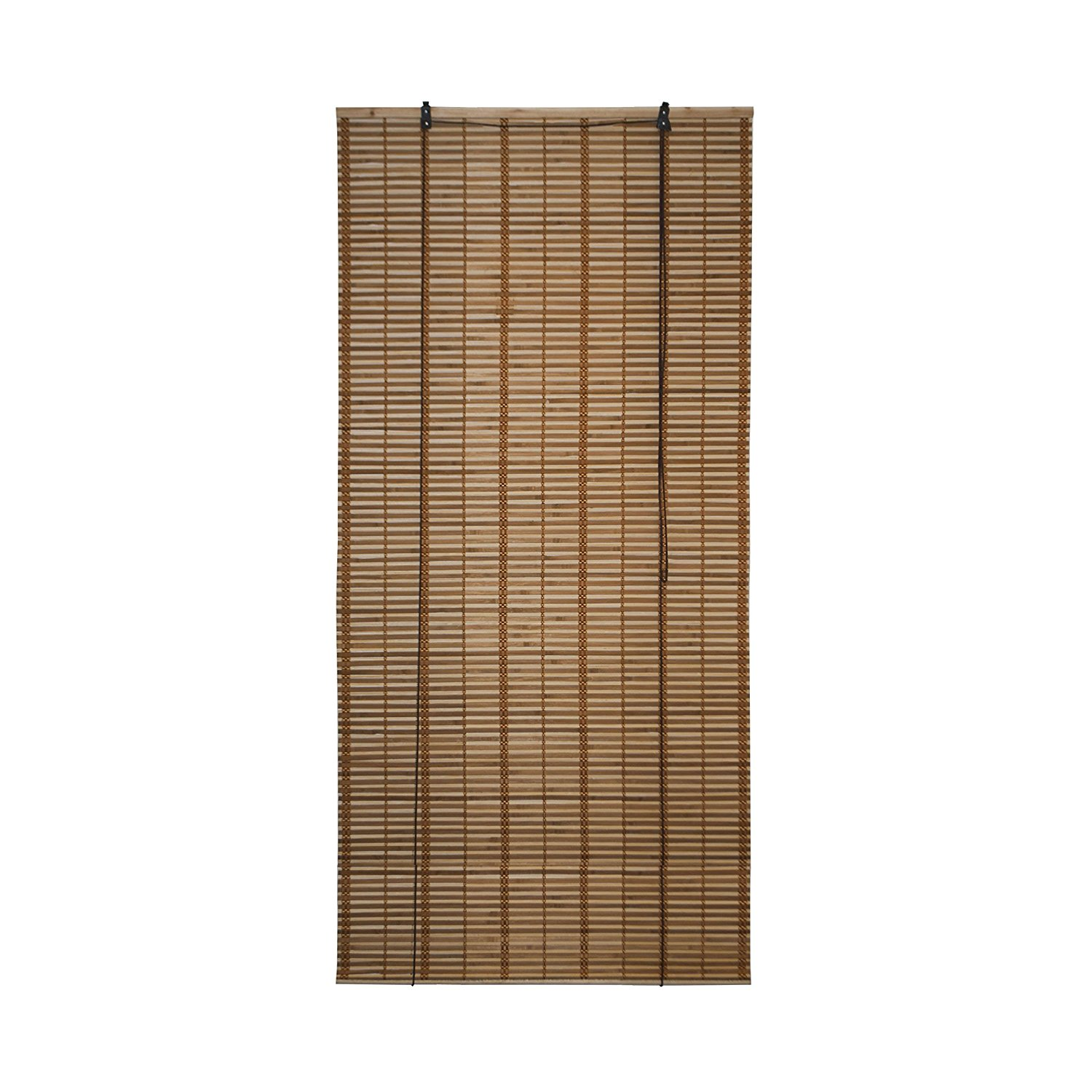 Light Brown Bamboo Midollino Wooden Roll Up Blinds Light Filtering Shades 36X72
