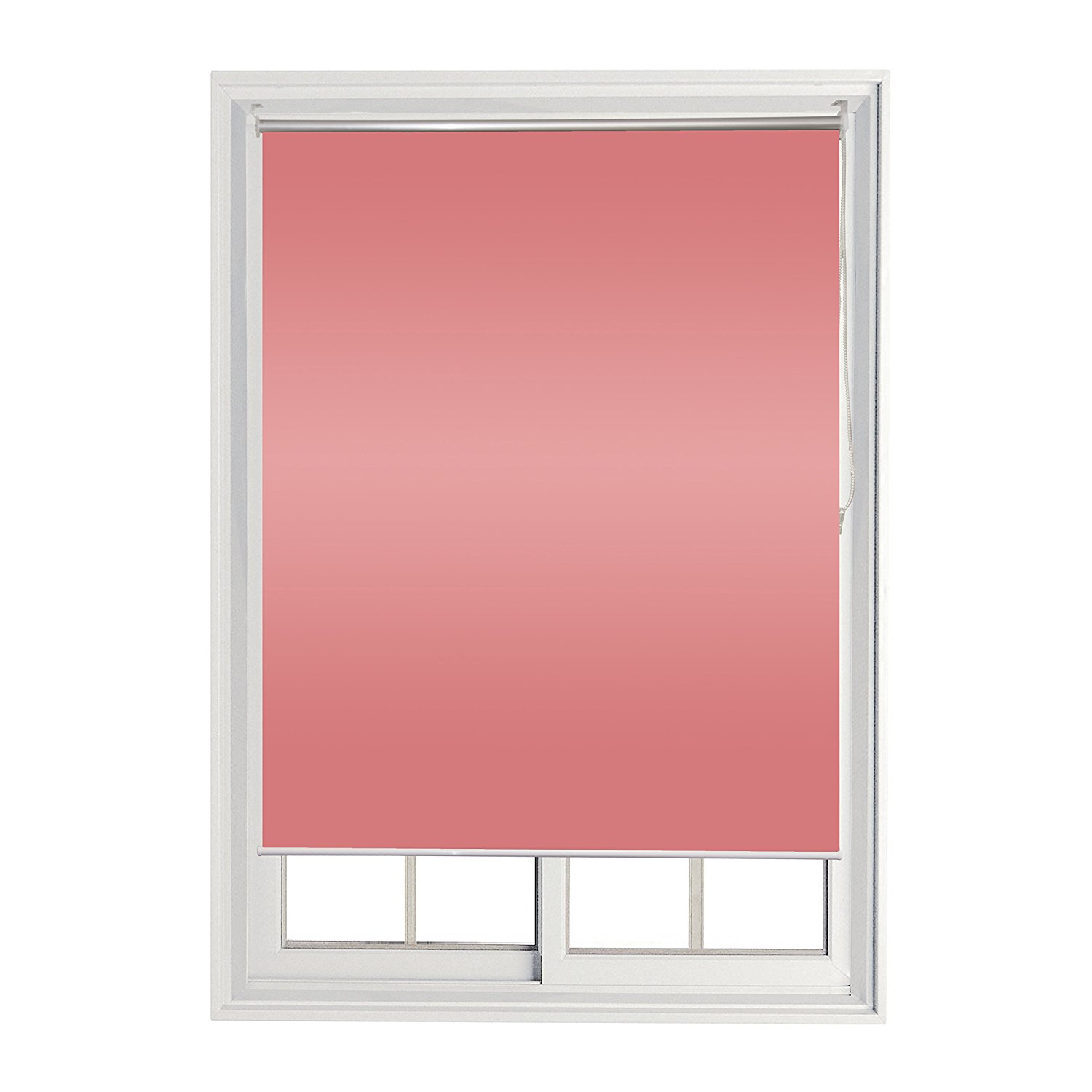 Roll Up Shade Windscreen Sunshade Blinds 60 X 72 Inches, Pink