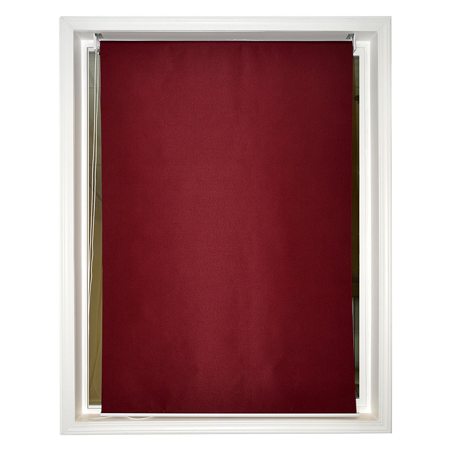 6 x 6 Roll Up Shade Windscreen Sunshade Blinds Burgundy Color