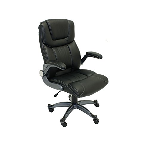 ALC2380BL High Back Office Chair Ergonomic Computer Desk Chair Black PU Leather