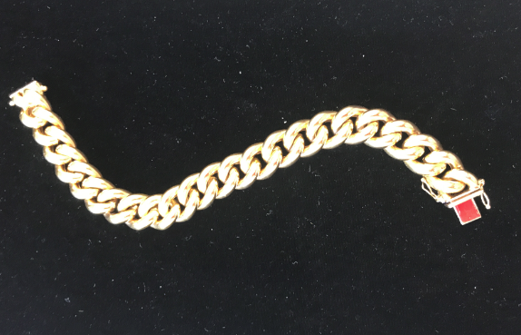 "18K Mens Gold bracelet - 8"" Heavy Links"