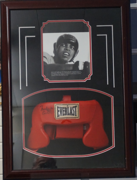 Mohammed Ali/ Cassius Clay Signed Head Gear