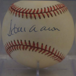 Hank Aaron Signed Baseball