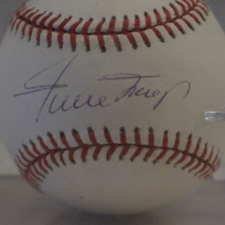 Willy Mays Signed Baseball
