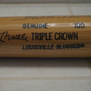 Triple Crown Winners Baseball Bat
