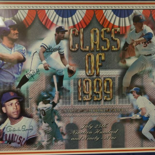 Class of 1999 Baseball Hall of Fame Signed Picture