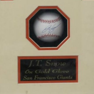 J.T. Snow Signed Baseball and Photo